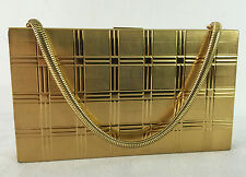 Vintage Evans Box Purse Gold Compact Vanity Evening Bag Dust Cover & Box