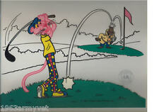 Pink Panther Golf Animation Sericel New Never Framed