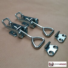 2 x LARGE Over Centre Fasteners Catch Latch Clamp Fastener Trailer Horsebox Lock