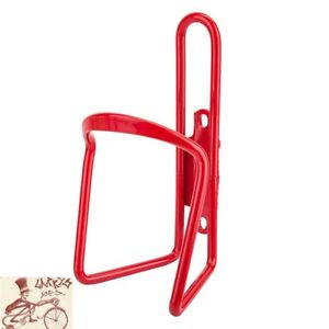 SUNLITE ALLOY 6mm RED WATER BOTTLE CAGE WITHOUT MOUNTING HARDWARE