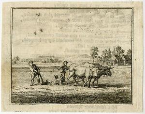 Antique Print-EMBLEM-NEVER ALONE-LOVE-CHRIST-YOKE-Spinneker-Vinne-1758