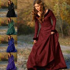 Women Ladies Vintage Cosplay Costume Medieval Dress Princess Renaissance Gothic