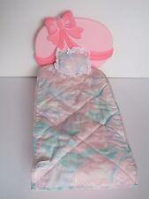 Barbie 1979 Mattel bed w/accessories ~ comforter pillow headboard