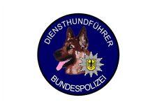 Aufkleber Diensthundführer Bundespolizei Schäferhund (Hinterglas)