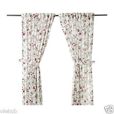 """IKEA INGMARIE Curtains with tie-backs Multicor 2 PANELS 57 """"x 98 """" NEW"""