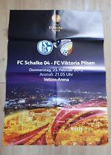 S04 Schalke Viktoria Pilsen 2012 Spielankündigungsplakat Europa League RAR NEU