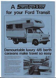 Ford Transit Mk1 Suntrekker Caravan 1976-77 UK Market Single Sheet Brochure