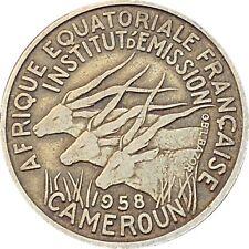 French Equatorial Africa Cameroon Cameroun 25 Francs 1958 KM#12 (4354)