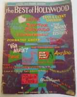 The Best of Hollywood Vocal and Piano Edition 1966 Sheet Music Book