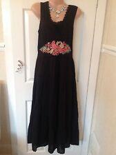 Monsoon black cotton/broderie   dress size 12 vgc Best Price