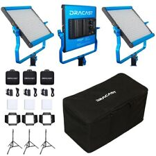 Dracast S-Series LED500 Bi-Color 3 Light Kit with NP-F Mount Battery Plates a...