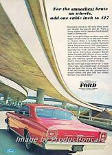 1966 Ford Galaxie 500 427 - Original Advertisement Print Art Car Ad J726