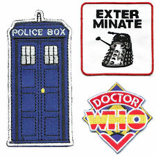 3pcs lot Doctor Who Police Box Tardis EXTERMINATE tv Embroidery Iron on Patches