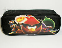 Angry Birds Black Pencil Case Pouch Rovio Angry Birds School Supplies Pouch Bag