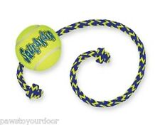 Kong Tennis Ball Dog Toy Rope Air Squeaker Interactive Fetch Puppy Play
