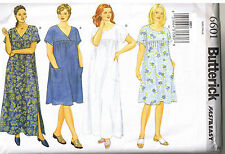Easy Womens Pullover Muu Muu Dress Round or V Neck Sewing Pattern Plus 22 24 26