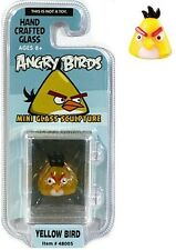 Angry Birds Mini Glass Sculpture Collectible - Yellow Bird, NIP, Mint!