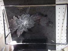"Vintage Rectangular Platter Silver Overlay 16"" X 9 1/2"" Rose Design"