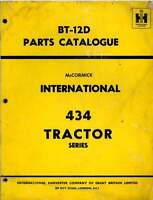 McCormick International Tractor 434 Parts Manual