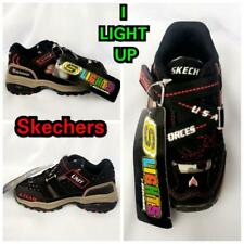 New Boy's Skechers Starstreak Black with Red Light Up Sneakers 5.5 & 8 Toddler