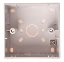 SINGLE PATRESS 45MM C/W EARTH TERM - Wall Plates & Outlets