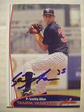 SCOTTIE ALLEN signed 2011 TAMPA YANKEES baseball card AUTO APOPKA LONGWOOD FL NY