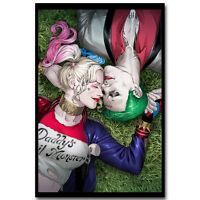 Harley Quinn Joker - Suicide Squad Superheroes Movie Silk Canvas Poster Print