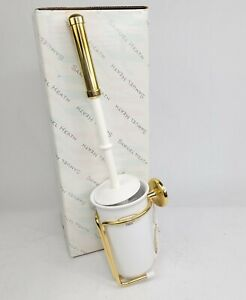 NEW Samuel Heath N1049 Wall Mounted Toilet Brush Holder in Polished Brass