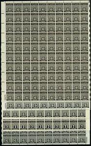 PN1-10, Mint NH 1-10¢ VF Sheets of 100 Postal Note Stamps CV $635++ Stuart Katz