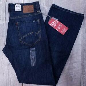 MAVI LEO Jeans Mens 30x34 Dark Wash Low Rise Bootcut Boot Cut Zip Fly J1310