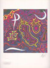 """litografia Corrado Cagli """"P"""" - Firmato/Signed"""