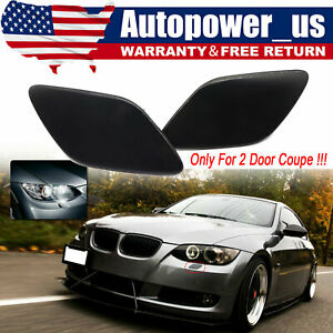 Pair Headlight Washer Cover For 2007-10 BMW 328i 335i Coupe Left & Right