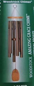 WOODSTOCK CHIMES - NEW AMAZING GRACE BRONZE CHIMES - MEDIUM - AGMBR