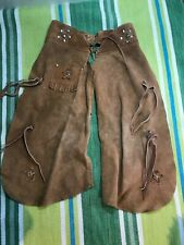 Vintage Childs Cowboy Vest &Chaps Costume Halloween/Reenactment/Pho to/Theater