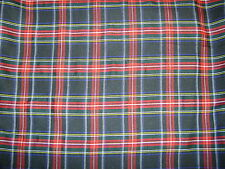 Navy/Red Tartan Fabric Polyester 150cm Wide Various Colours Availiable  FREE P+P