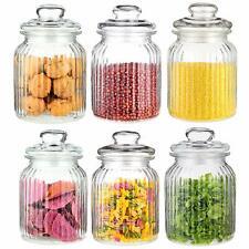 6 Vorratsdosen Glas Vorratsgläser 1000ml Bonboniere Aufbewahrung Bonbon Dosen