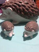 Threshold Hedgehog Cookie Jar Stoneware Ceramic Canister 11x6 Brown Kitchenware