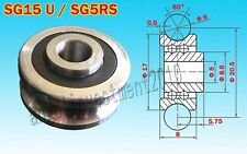 10pcs new SG15 U Groove 5*17*8mm Sealed Ball Track Guide Bearing Textile