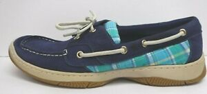 Tommy Hilfiger Size 10 Blue Leather Boat Shoe New Womens Shoes