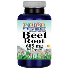 Beet Root 605mg Beta Vulgaria 200 capsules