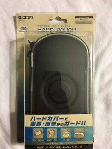 PlayStation Portable -- HORI Hard Pouch Portable - Black -- PSP. 49735