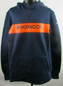 Denver Broncos NFL Nike Dri-Fit Youth Navy Blue Pull-Over Hoodie