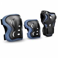 6pcs Skating Protective Gear Sets Elbow Knee Pads Bike Skateboard Adult Kid UK