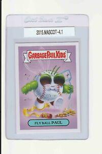 Garbage Pail Kids Fly Ball Paul 4 GPK 2015 Series Mascot Sticker insert baseball