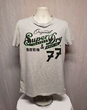 Original Super Dry Leather & Boot Company 77 Adult Large Gray T-Shirt