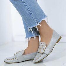 Chaussures plates et ballerines argentées pour femme
