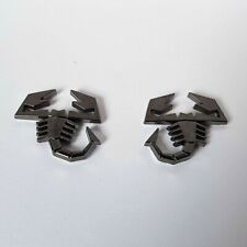 2 Gun Metal Grey 3D Metal Scorpion Badges Emblem for Audi Q2 Q3 Q5 Q7 Q8 S-Line