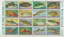 Timbres Poissons Guinée équatoriale 72/PA56 o lot 23744