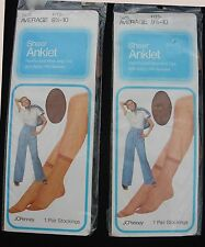 Vintage JCPenney Anklets ~ Sealed Packages ~ PAIR! ~ 1960s-70s