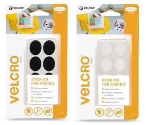 VELCRO® Brand Stick On For Fabrics Ovals 24mm x 8 Sets
